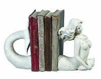 Creative Co-op Cream Resin Mermaid Bookends , New, Free Shipping on sale
