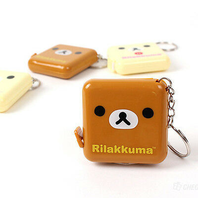 1x Cute Rilakkuma 1.5M Retractable Measure Ruler Tape Body Cloth Dieting Sewing