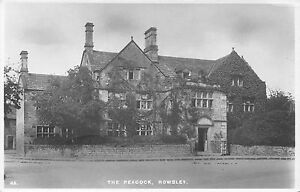 POSTCARD-DERBYSHIRE-ROWSLEY-The-Peacock