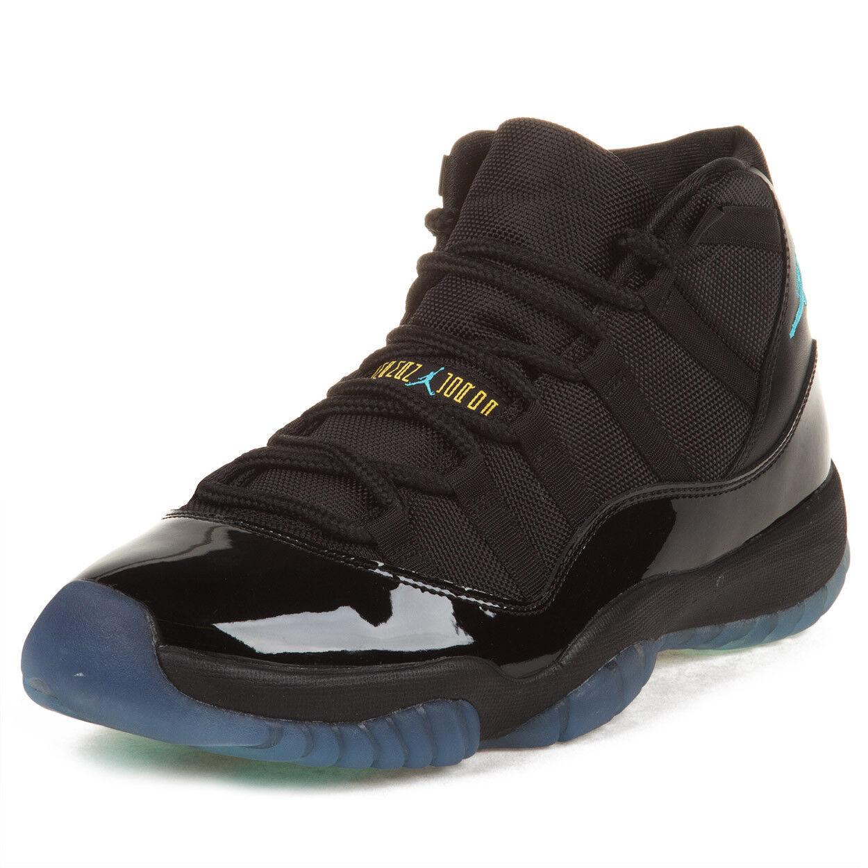 Nike Mens Air Jordan 11 Retro Black Gamma bluee 378037-006