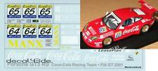 1/43 Decal Porsche GT3 RS 'CocaCola Racing' FIA GT 2001