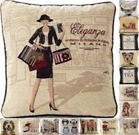 """CLEARANCE  Tapestry Vintage Cushion Covers 18""""x18"""" ~ 25 Various Designs"""