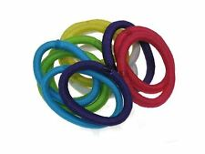 Girls Bright Colour Small Snag Free Hairband Hair Elastics Bobbles No Metal