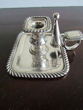 Small Silver Plated Chamber Stick c.1880-1900