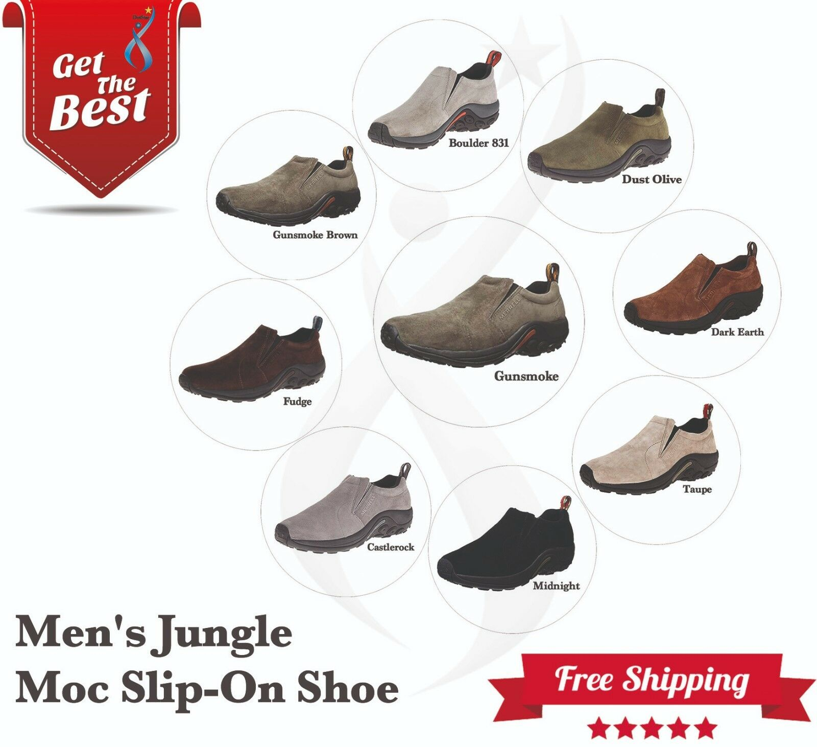 Merrell Chaussures Homme Jungle Moc Slip-On chaussures