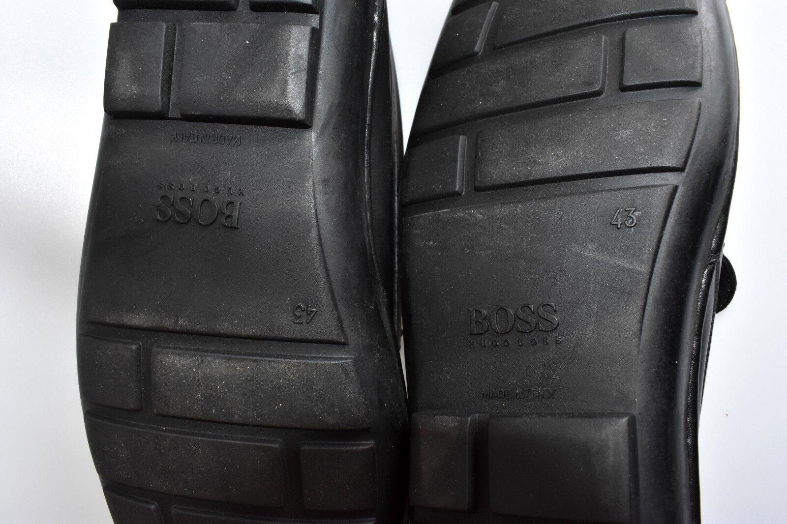 HUGO BOSS Größe. 43 Leder loafers very NEU chic NEW schuhe toll NEU very 2b071a