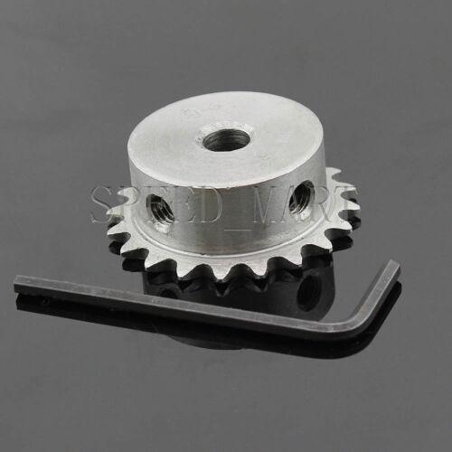 8mm Bore 20 Teeth 20T Metal Pilot Motor Gear Roller Chain Drive Sprocket