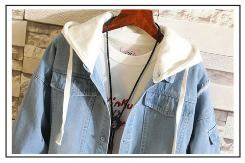 Unisex Anime Naruto Itachi Uchiha Jean Hoodie Coat Hooded Jacket Outwear Cosplay
