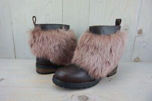 452710df8cc Details about UGG OTELIA COCONUT SHELL BROWN FURRY WOMENS LEATHER BOOT  WOMENS US 12 NIB