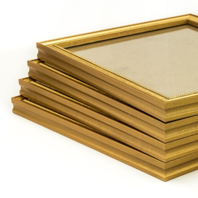 Craig Frames 314GD Ornate Gold .75 Inch Wide Solid Wood Picture Frame Wall Set