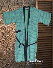 Damen Kimono Morgenmantel Nachtwäsche Hausmantel Bademantel 100% Baumwolle 21601
