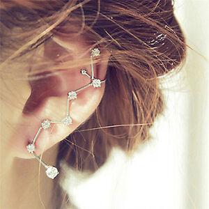 Bijoux femme unique boucle d'oreille Stud Ear brassard strass oreille clipcadeau