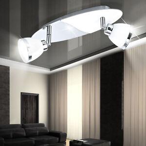 Luxus-Glas-Decken-Lampe-schwenkbar-Spots-Badezimmer-Strahler-Flur-Beleuchtung