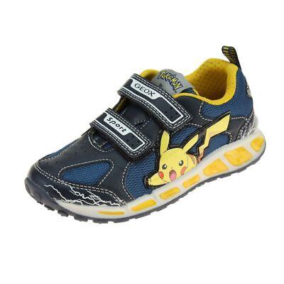 geox Boy Trainers ELVIS Black Orange,geox shoes sale,USA