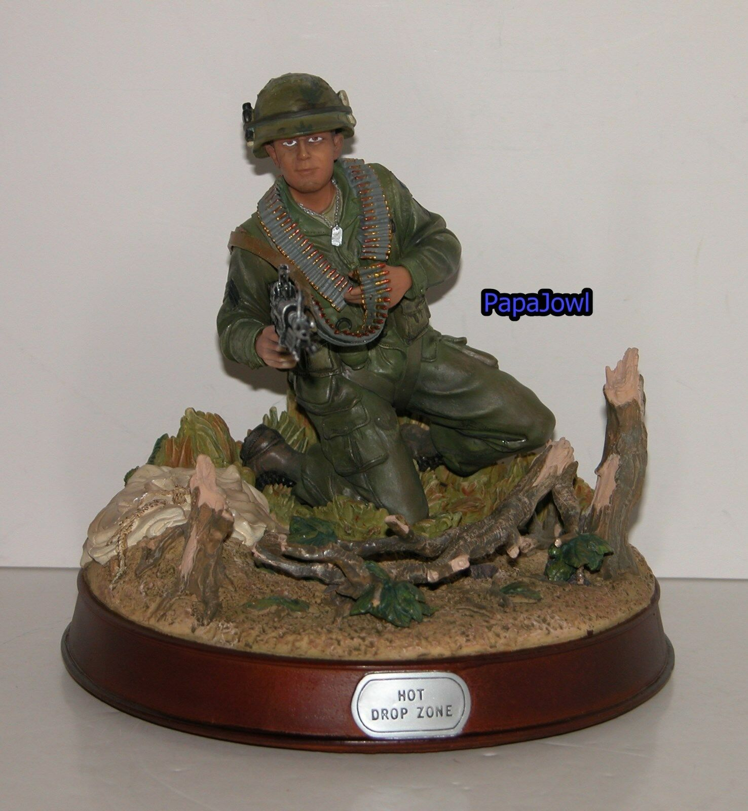 GI Joe Unique Display Piece Military Metal Series Hot Drop Zone Statue Hasbro