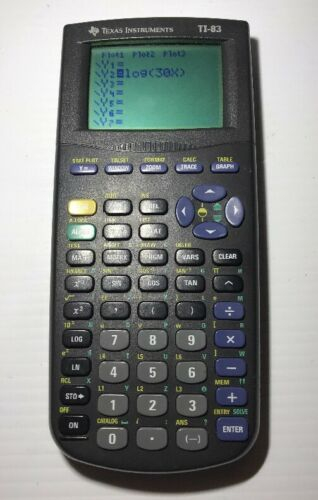 Texas Instruments TI83 Graphing Calculator Tested Working