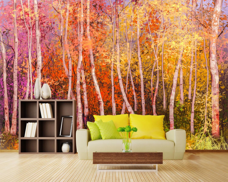 3D Autumn Woods 84 Wallpaper Mural Paper Wall Print Wallpaper Murals UK