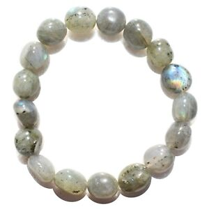 CHARGED-Labradorite-Crystal-Bracelet-Tumble-Polished-Stretchy-ENERGY-REIKI
