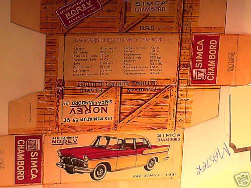 REFABRICATION BOITE SIMCA CHAMBORD 1958 NOREV