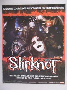 Slip Knot PRINT AD - 2001 ~~ Wait & Bleed