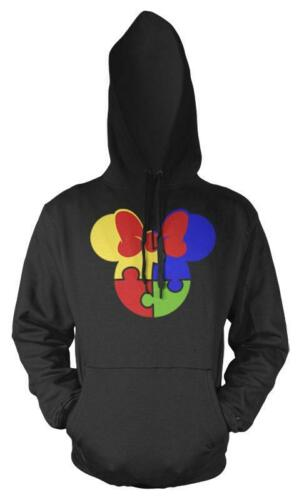 Autism Jigsaw Pieces Mouse Minnie Rainbow Kids Hoodie