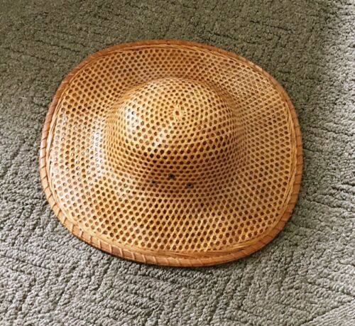 Woven, Wicker, Rickshaw, Coolie Hat - Asian Bamboo