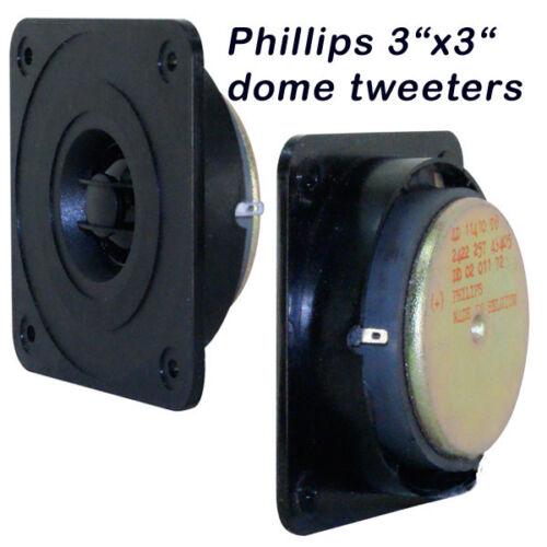 Philips 3X3 Dome Tweeter  2 each  Made in Belgium for studio monitors