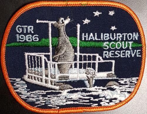 Haliburton Scout Reserve crest badge patch Scouts Canada 1986