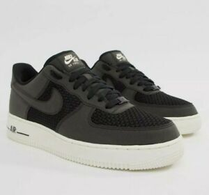 Details about New Nike AF1 Air Force 1 Low Woven Black White Leather Trainers Men Women UK 5.5