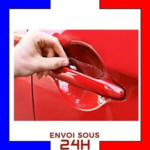 4-x-Film-Protection-Transparent-Poignee-Porte-Autocollant-Adhesif-Voiture-auto