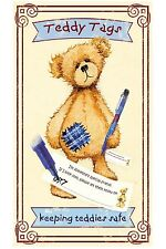 Teddy Tags Complete Kit of 10 x Teddy Tags and Pilot pen - Keeping Teddies safe