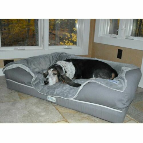 PetFusion Replacement Cover for BetterLounge Dog Bed X-Large Gray, 112x86 cm