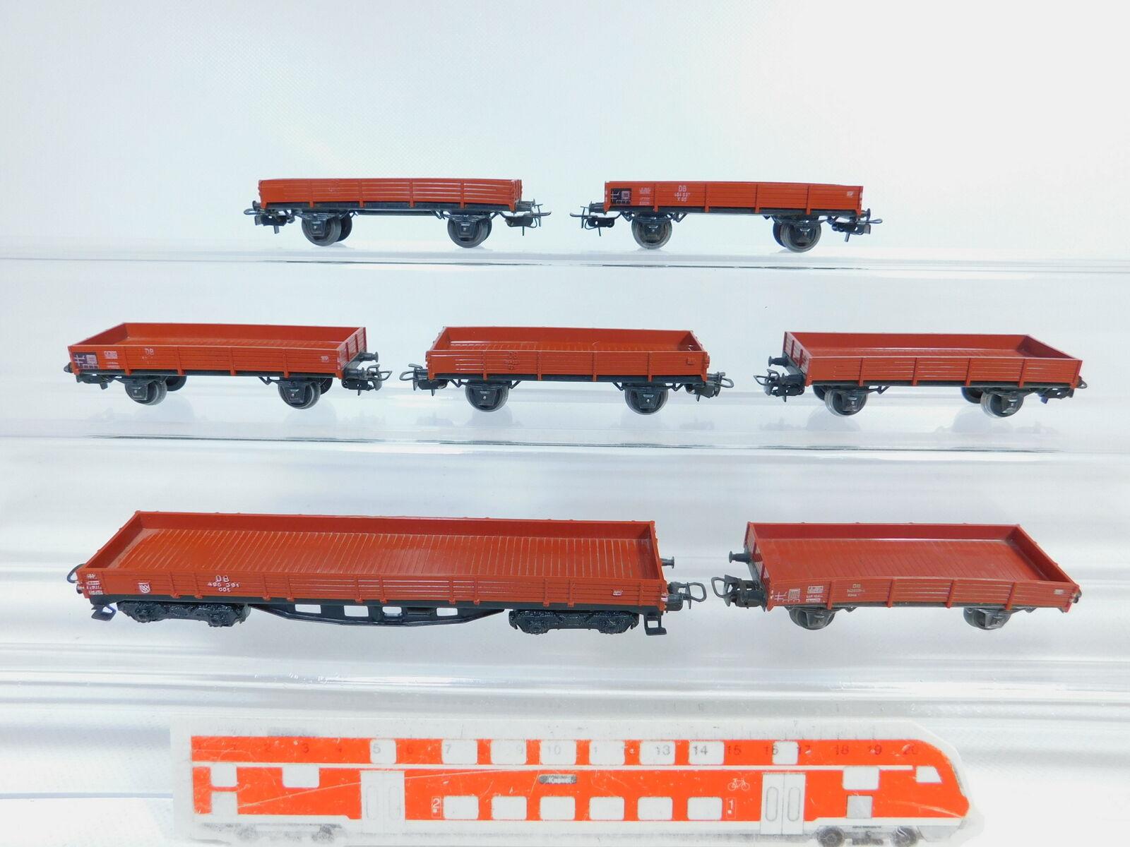 Bz716-0,5  7x marklin H0 AC Vagone senza Sponde   autoro Merci 4503 + 4514 DB,