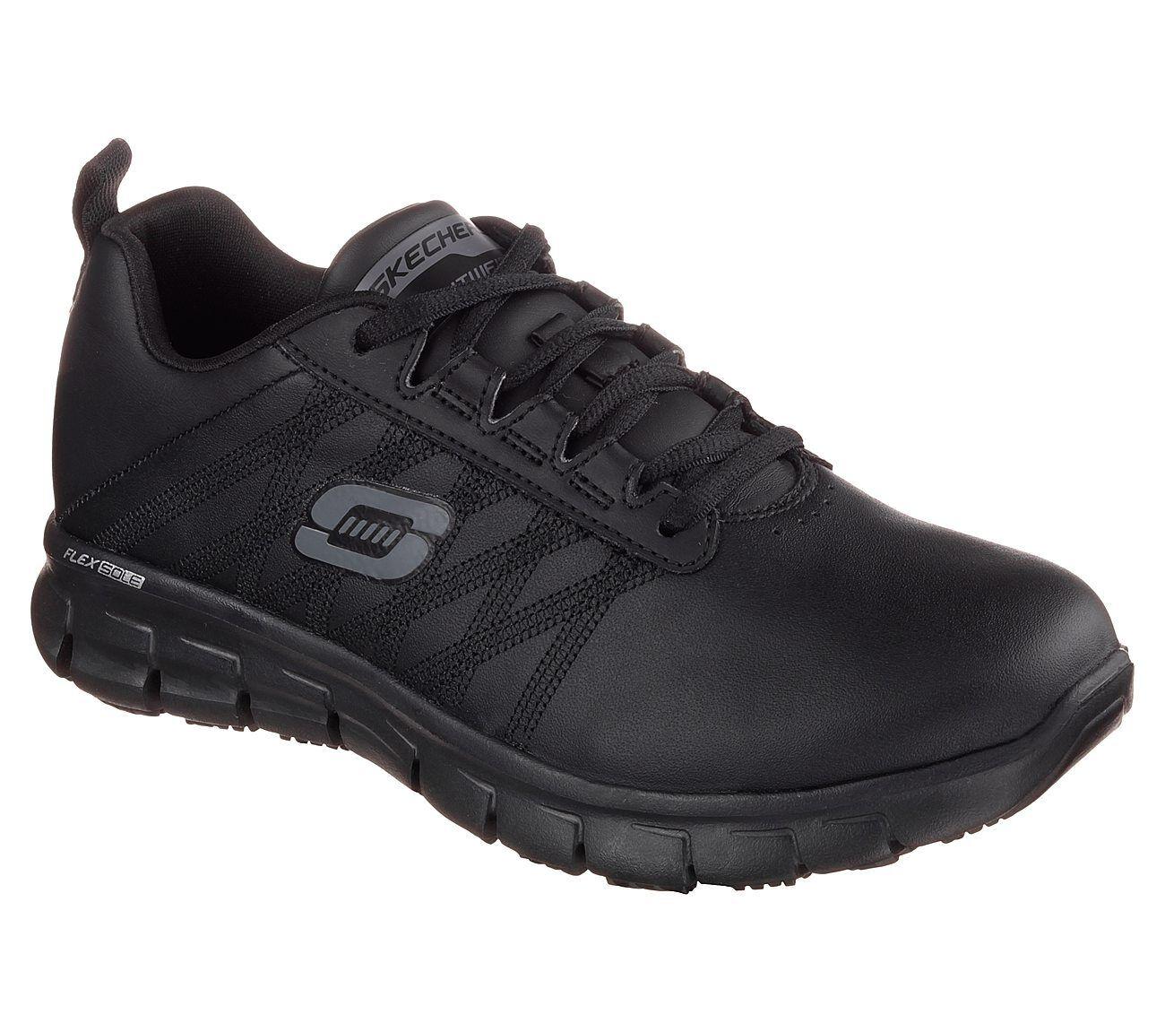 Skechers Work Relaxed Fit Resistant Sure Track Erath Schuhes Slip Resistant Fit Leder Damenschuhe 3a94af