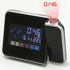 Digital Projection Snooze Alarm Clock LED Backlight Weather Station Gracious