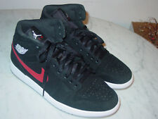 best website 039ec e822a 2018 Nike Air Jordan Retro 1 Mid Black University Red Basketball Shoes!  Size 9