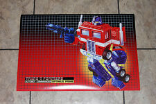 "Transformers G1 Optimus Prime 24"" box art poster art print autobots 80's"