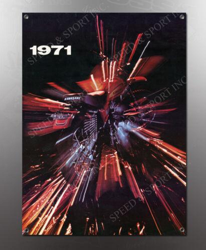 VINTAGE KAWASAKI 1971 A IMAGE BANNER NOS IMAGE REPRODUCTION