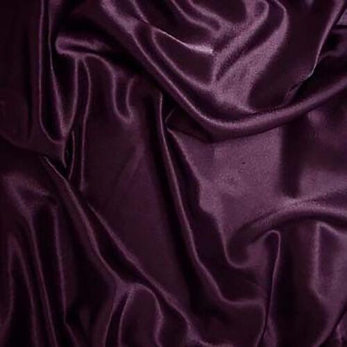 "25 Yards 60/"" Plum Charmeuse Shiny Satin Fabric Wedding Draping Runner Tablecloth"