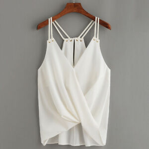 Female-Tank-V-Neck-Sleeveless-Twisted-Irregular-Sling-Shirts-Blouse-Tops-BS