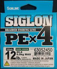 Select Lb Test Sunline SX1 Braided Fishing Line Deep Green 600 Yard Spool