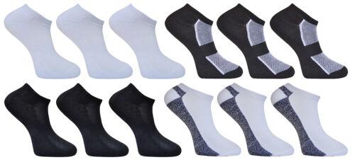 Mens Cotton Rich Sport Trainer Ankle Linear Socks