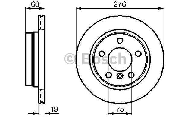 BOSCH Juego de 2 discos freno Trasero 276mm ventilado BMW Serie 3 0 986 478 642