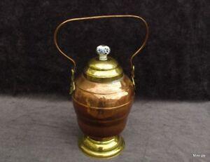 Metallobjekte Offen Antike Holländische Ascheeimer Aschekübel Kupfer& Messing Kübel 44 Cm Hoch Einfach Zu Schmieren Kupfer