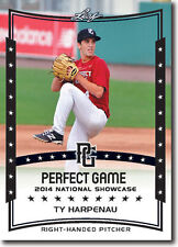 (12) TY HARPENAU 2014 Leaf *PERFECT GAME*  Baseball Rookie RC LOT