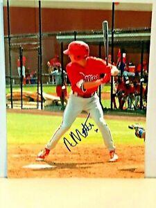 Nick Maton Phillies Infielder Rookie - Autographed Color 8 X 10