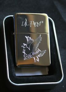 LIL PEEP solid brass chrome lighter  rap music Cry Baby bird - Free Engraving