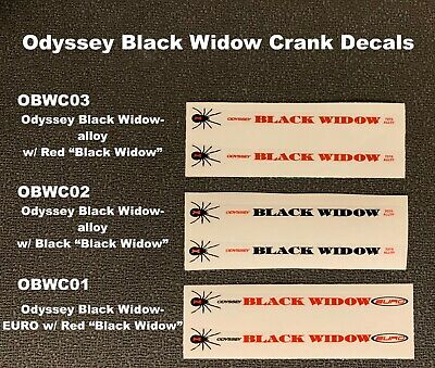 Available Gen 1-2 variation, or Gen 2 ODYSSEY BLACK  WIDOW Crank Decals,1 pair