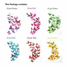 DIY Butterfly kids Wall Stickers Decals ,Room Decoration Vinyl Art 72pcs