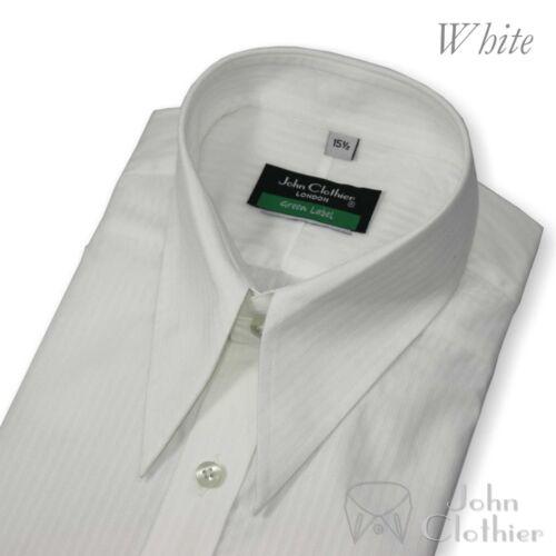 LANCIA PUNTO Vintage Camicia Righe Bianche Cotone SECONDA GUERRA MONDIALE 1930s Era Classic Fit Gents